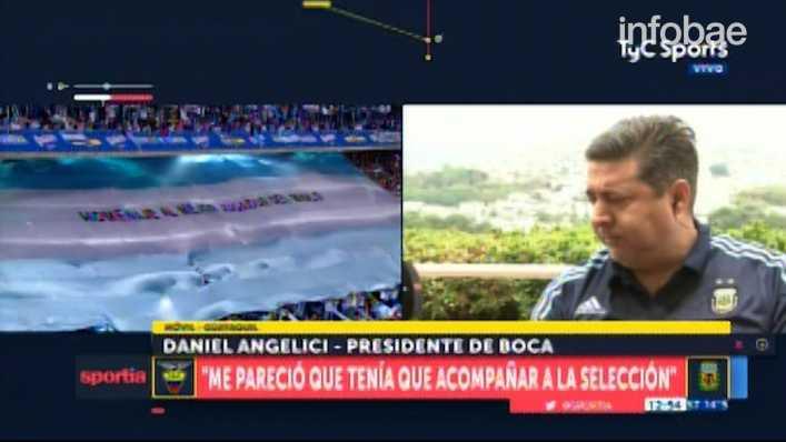 VIDEO: ¿Qué dijo Angelici sobre Sampaoli si no llega al Mundial?