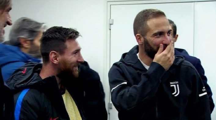 VIDEO: Qué le dijo Higuaín a Messi en el túnel