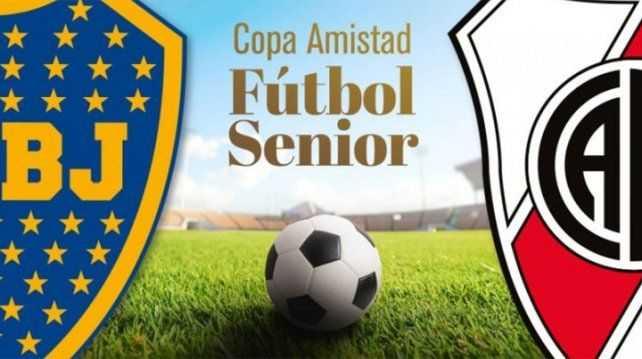 Viejas glorias de Boca y River se enfrentan en la previa de la Supercopa