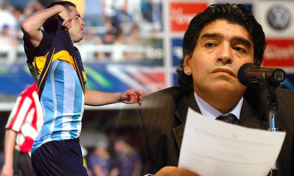 Maradona zanja el 'culebrón Riquelme'