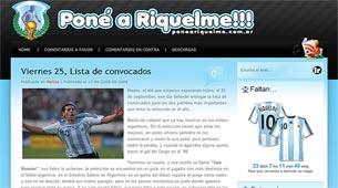 '¡Poné a Riquelme!', el blog que presiona al director técnico de la Selección nacional
