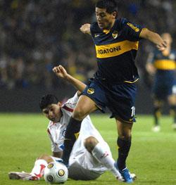 Boca y Riquelme ganaron por goleada