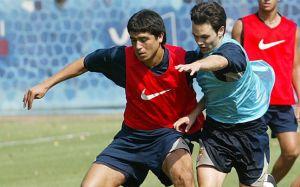 Foto Juan Roman Riquelme 13 Anos Debut Andres Iniesta Con Barcelona