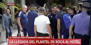 A pesar del coronavirus, en Mendoza se juntaron para recibir a Boca
