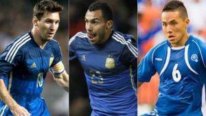 Foto Juan Roman Riquelme Argentina El Salvador Messi Duda Y Tevez Confirmado