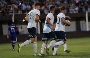ARGENTINA EMPATO CON PARAGUAY EN AMISTOSO DE LA SUB 23