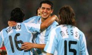 Foto Juan Roman Riquelme Argentina Goleo A Brasil Y Aseguro Otra Medalla