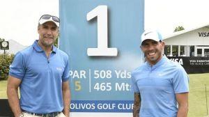 batistuta-tevez, la pareja de los 638 goles que se desvive por jugar al golf