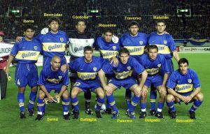 Foto Juan Roman Riquelme Boca Juniors 2000 Riquelme Palermo Cordoba Delgado Schelotto