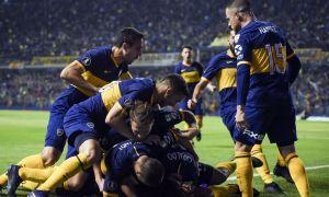 Boca tuvo un recibimiento multitudinario en Paraná