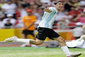 Foto Juan Roman Riquelme Botin De Oro Argentina 1 0 Nigeria