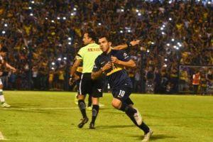 carlos tevez marcó su primer gol tras su regreso a boca juniors