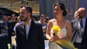 casamiento azul y oro