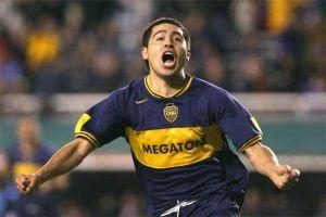 Foto Juan Roman Riquelme Celebrando Gol De Boca Juniors