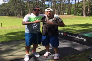 Foto Juan Roman Riquelme Con Tevez Campeon Defensor Arranco Fuerte Apache Open