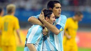 Foto Juan Roman Riquelme El Dia Que Messi Jugo De Riquelme
