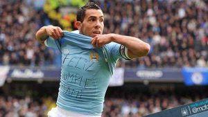 Foto Juan Roman Riquelme En Manchester City No Se Olvidan De Golazo Tevez