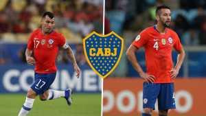 ¿<b>Gary Medel</b> y Mauricio Isla a Boca?
