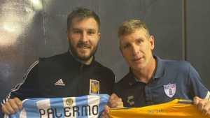 <b>Gignac</b> y Palermo intercambian camisetas
