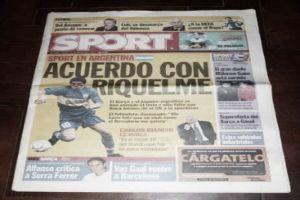 HACE 15 ANOS SE CONFIRMABA VENTA RIQUELME BARCELONA