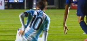 la lesión que sufrió lionel messi en el partido entre argentina y honduras