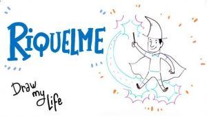 la vida de riquelme en dibujos animados