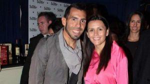 Las vacaciones románticas de Tevez y su mujer Vanesa