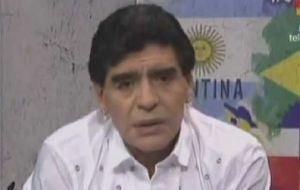 Foto Juan Roman Riquelme Maradona Salio Al Cruce De Grondona Pobre Estupido