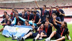 Foto Juan Roman Riquelme Messi Tevez Riquelme Y Mascherano