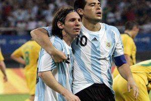 Foto Juan Roman Riquelme Messi Y Riquelme Nuevas Victimas Canibalismo Argentino