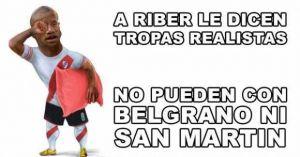 Foto Juan Roman Riquelme San Martin Gano River Y Aparecieron Afiches Bromas