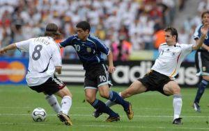 todas las jugadas de riquelme en el argentina-alemania