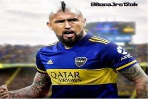 ¡Vidal se puso la camiseta de Boca!