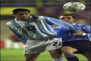 Foto Juan Roman Riquelme partido Argentina Uruguay