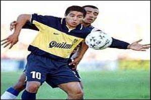 Foto Juan Roman Riquelme con Boca Juniors en Clausura