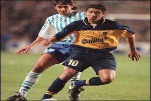 Foto Juan Roman Riquelme con Boca Juniors