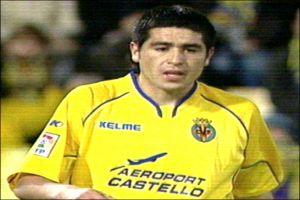 Foto Juan Roman Riquelme partido de liga con Villarreal