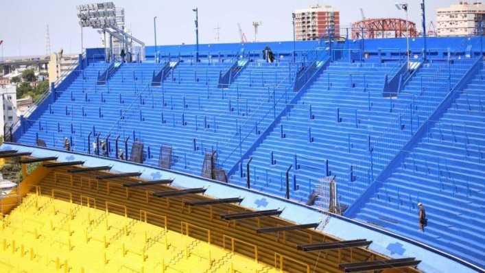 Boca sigue remodelando La Bombonera mientras espera por la vuelta del público