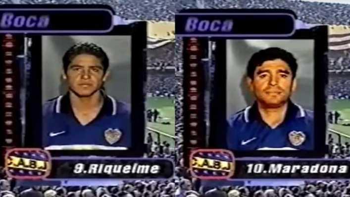 Cuando Maradona y Riquelme pararon el tiempo