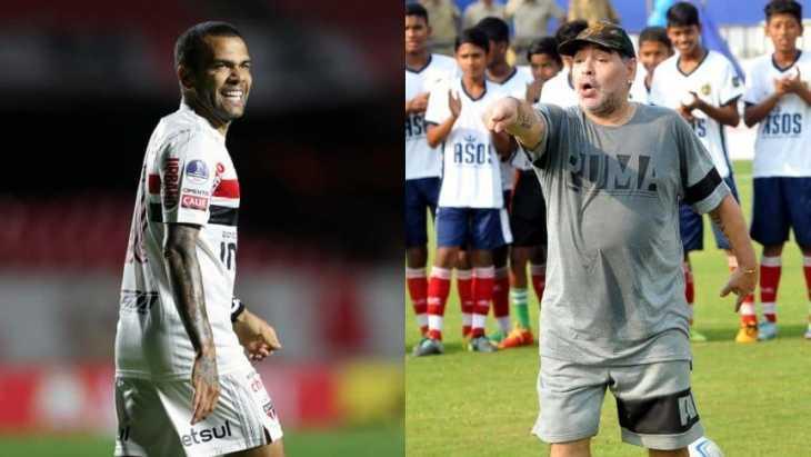 Dani Alves, de las críticas de Maradona a ser una chance en Boca