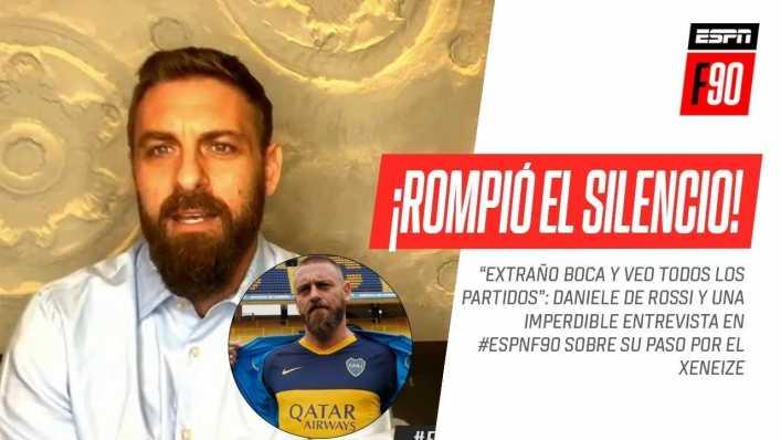 De Rossi: sus charlas con Riquelme, la muerte de Maradona y su revancha en Boca