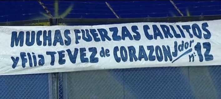 El agradecimiento de Tevez por el trapo en la Bombonera