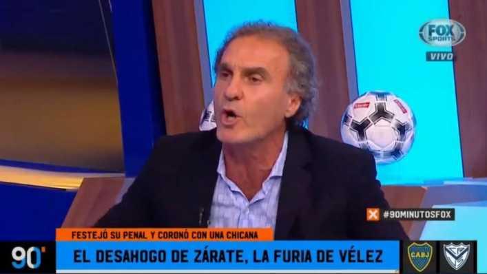 El Cabezón Ruggeri lo bancó a Mauro Zárate