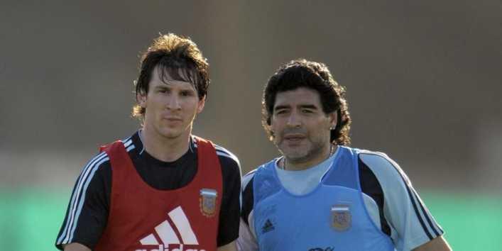 El día que Messi y Maradona jugaron juntos en Argentina