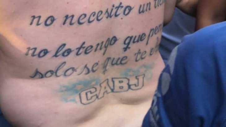 El impresionante tatuaje del hincha de Boca en Tucumán