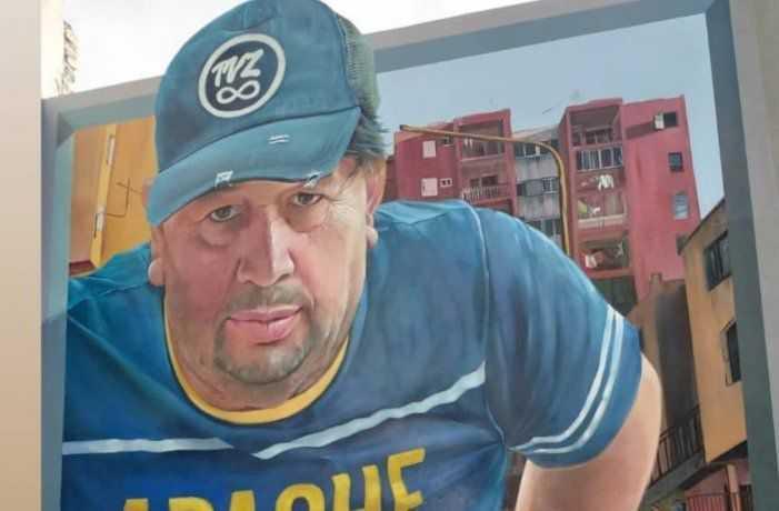 El mural del papá de Carlos Tevez en Fuerte Apache