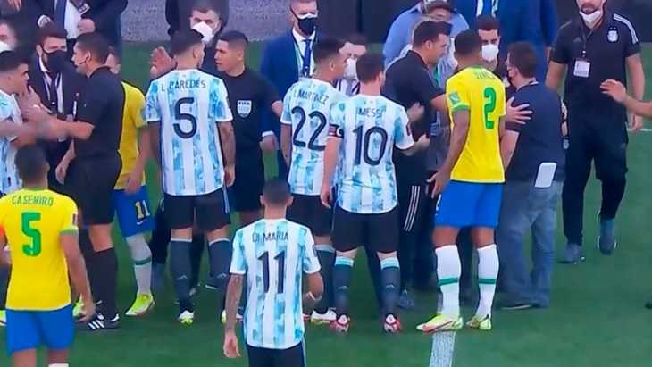 El plantel argentino viajó desde el Aeropuerto de San Pablo hacia Buenos Aires