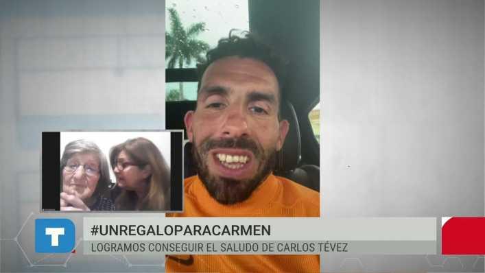 El regalo menos impensado de Carlitos Tevez a una fan de 100 años