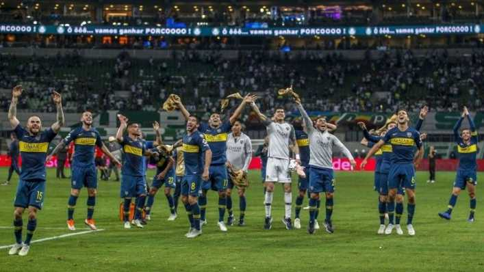 La fotaza de Villa, Fabra, Campuzano y Barrios en Boca Juniors