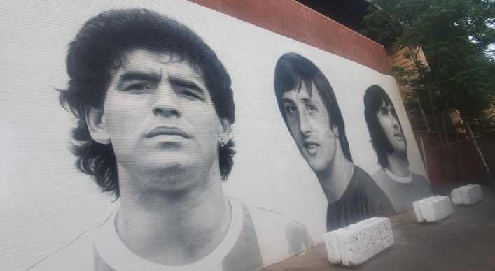 La historia detrás del mural de Maradona en Nueva York